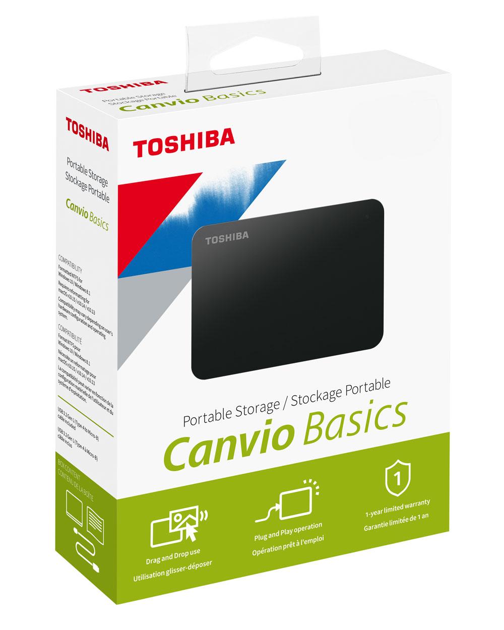 Canvio Basics packaging